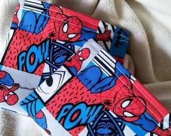 "Child's Snack Bag, Reusable Snack Bags, Reusable Sandwich Bags, Eco Friendly Bag, Grab Bag Gift, Party Favor, Teacher Gift ""More Spiderman!"""