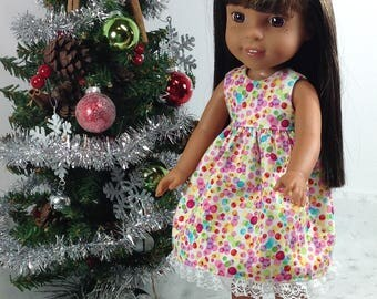 14 inch doll clothees-to fit Wellie Wisher-Hearts 4 Heart-Dress-stocking stuffer