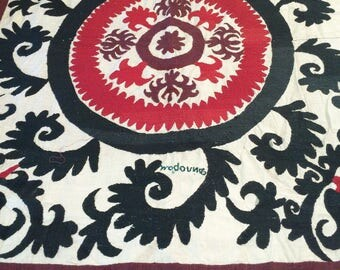 Suzani embroidered bedspread, tapestry, tablecloth