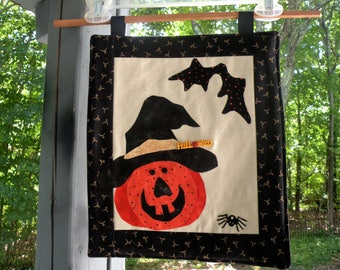Primitive Jack o Lantern Small Wall Hanging for Halloween Made in Maine