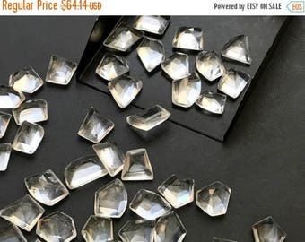 ON SALE 50% WHOLESALE 10 Pcs White Amethyst Fancy Cut Cabochons, White Amethyst Rose Cut Flat Back Cabochons, Amethyst Jewelry, 12-18mm - Ns