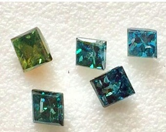65% MEGA SALE Blue Diamond, Blue Diamond Square, Blue Diamond Cut, Natural Diamonds, Loose Blue Diamond, 2.8mm, 1 Pc, 0.15 Cts