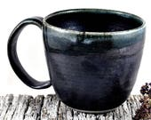 Custom listing for Sarah - Coffee Cup Soup Mug Ceramic Handmade Pottery Black Tea Cup Dawn Whitehand on Etsy