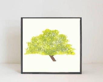 woodland nursery art- mesquite tree art print- forest decor- nursery woodland art- tree print- nursery forest -tree decor- redtilestudio