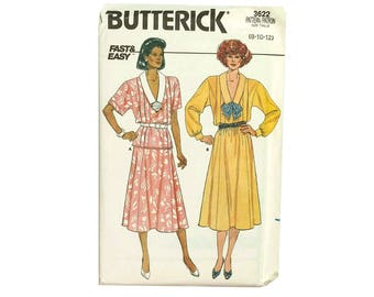 Fast and Easy Top and Skirt Vintage Sewing Pattern Butterick 3622 Size 8 10 12 Bust 31 thru 34 UNCUT 1986