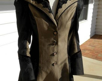 Lds Lightweight Wool Jacket w/Equestrian Embellishments