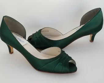 Green Wedding Shoes Green Bridal Shoes or PICK FROM 100 COLORS Green Bridesmaid Shoes