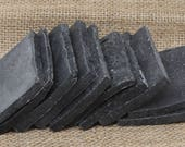 Activated Charcoal, Soap Ends Sampler, Homemade Soap, Handmade Soap, Natural Soap, Soap Box, Rustic soaps, essential oil soap sample