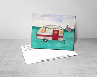 Camper - Postcard - Glamping - Free - limited edition