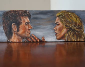 Rose and the Doctor. original oil painting.