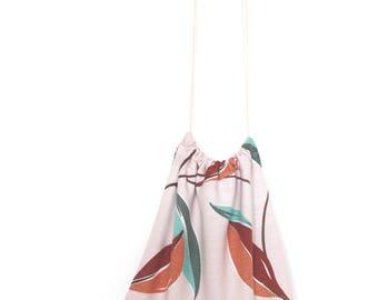 handmade vintage 'desert oasis' drawstring tote bag