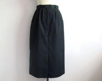50OFF Event Vintage 1980s Skirt Mister Leonard Black Pleated Straight Cotton Skirt 10