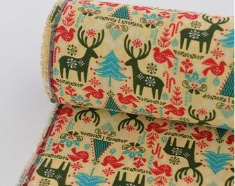 Cotton Linen Fabric Cloth -DIY Cloth Art Manual Cloth -Milu Deer 55x19 Inches