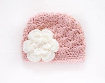 Newborn Girl Hat / Girls Beanie / Crochet Girls Hat / Baby Shower Girl / Girls Winter Hat / Gift For Girls / Baby Girl Hat / Girls Hat