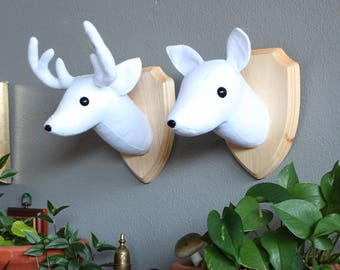 Harry Potter Stag and Doe Patronus Wall Mounted Heads