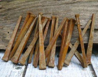 Rusty Nails, Vintage Hardware, Primitive Hardware, Rusty Hardware, Steampunk Craft Supplies