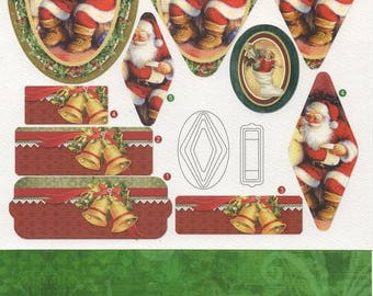 Pre cut Santa Claus with his 11 - Image background card