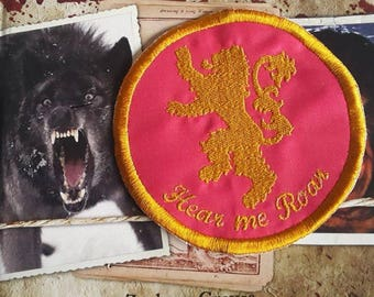 Game of Thrones, 'Hear me Roar',  House Lannister, round patch patches UK
