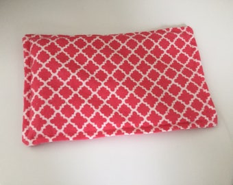 SALE, Rice Heating Pad / Ice Pack, 5 X 8 Coral Scroll