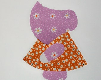 Sunbonnet Sue set of 12 Appliques with fusible web 1930's Reproduction fabric prints