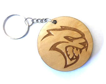 Hellcat Keychain, Dodge keychain, Dodge Hellcat, Guy gift, Guy gift idea, Hellcat Challenger, Hellcat Charger