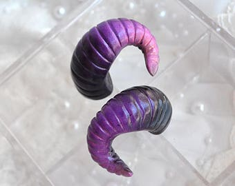 BJD Horns Purple Black Pink - Size M