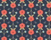 SALE 10% Off - Vine in Dark Blue  2240802-2 - HAPPY THOUGHTS  - by Alisse Courter for Camelot Cotton Fabrics