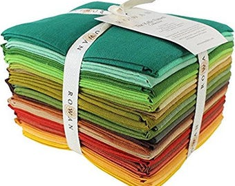 Kaffe FALLING LEAVES 24 pc Fat Quarter Bundle - Shot Cottons - Kaffe Fassett Collective for Westminster Fabrics