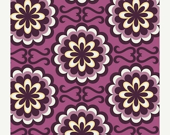 SALE 30% Off - Fancy Buttons in Purple (BE-6103) - BESPOKEN by Pat Bravo for Art Gallery Fabric - By the Yard