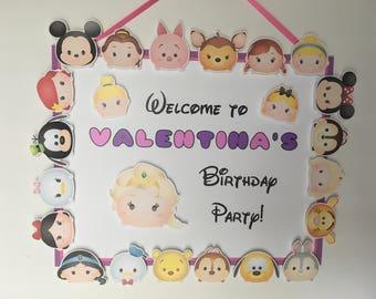 TSUM TSUM Birthday Party Door Sign