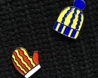 Enamel Pin Set - Hat & Mitten