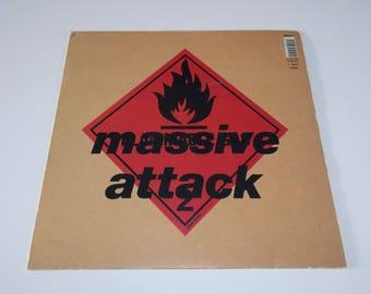 VERY RARE A1/B1 1st 1991 - Massive Attack - Blue Lines - LP Vinyl Record Album - 90s / Dance /  Trip Hop / House