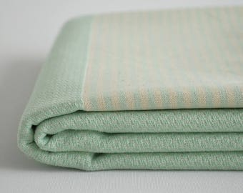 NEW / SALE 50 OFF/ BathStyle / Mint Green / Turkish Beach Towel Peshtemal / Wedding Gift, Spa, Swim, Pool Towels and Pareo