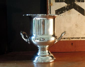 Vintage Silver Plate Champagne Bucket / Ice Bucket / Detailed Handles / Wine Cooler