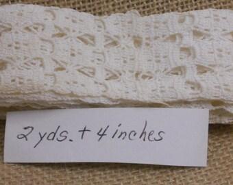 Vintage Crochet Trim - 2 yds. 4 inches