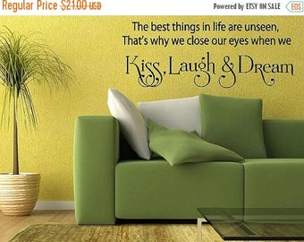 20% OFF The best things in life are unseen-Vinyl Lettering wall words graphics Home decor itswritteninvinyl