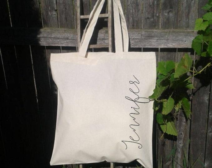 Custom Bridesmaid Tote Bag, Wedding Tote Bag, Bridal Party Gifts, Personalized Wedding Totes