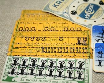 Hook Eyes Loops Set, Vintage Sewing Notions,