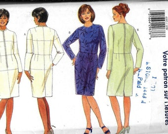 Butterick 6092 Fitting Shell Dress For Tailoring Muslin Sewing Pattern UNCUT Plus Size 18W