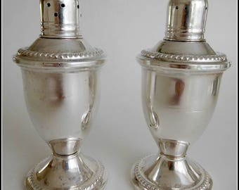 Vintage Duchin Sterling Silver Salt & Pepper Shakers ~ Weighted