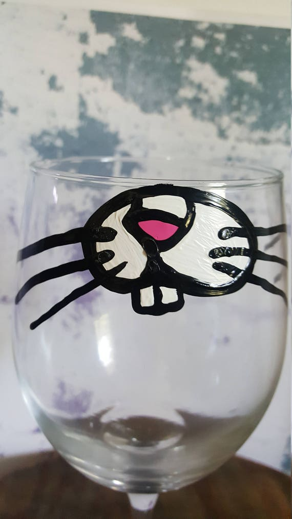 Rabbit Lover wineglass