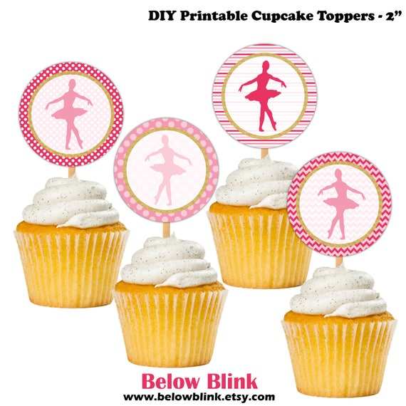 ballerina cupcake toppers printable birthday cupcake toppers baby