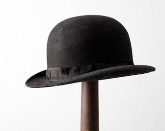 antique bowler hat, Keith black hat