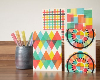 Wholesale Cards Geometric Patterned Greetings Notecards