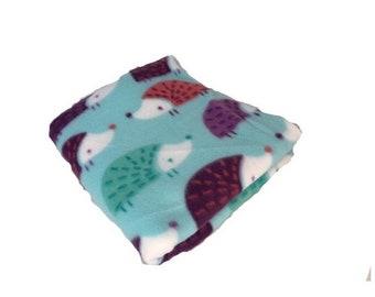 Multicolored hedgehog fleece cage liner, guinea pig fleece cage liner, fleece pet bedding, waterproof bedding, bedding for guinea pigs