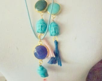 Buddha tassel-necklace- choose your color
