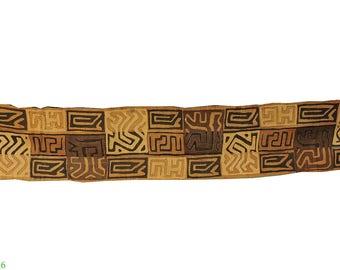 Kuba Raffia Textile Handwoven Congo African 11 Feet 106824