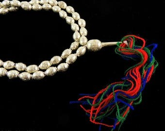 Ethiopian Prayer Beads Silver with Tassel Africa 99870