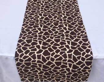 Giraffe Print Table Runner, Baby Shower, Bridal Shower, Giraffe Print, Party, Zoo, Jungle, Safari Jungle Baby, Travel