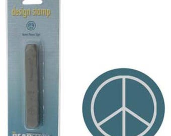 Metal Stamp, Peace Sign Design, 6mm - 1 Pc Wholesale Price (11862)/1